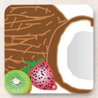 Tropical Kiwi Coconuts Coaster