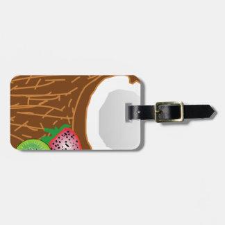 Tropical Kiwi Coconuts Luggage Tag