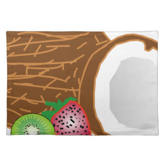 Tropical Kiwi Coconuts Placemat