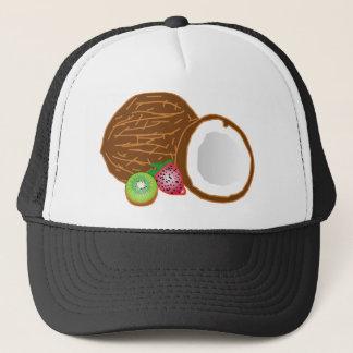 Tropical Kiwi Coconuts Trucker Hat