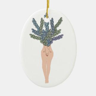 Tropical lady A Ceramic Ornament