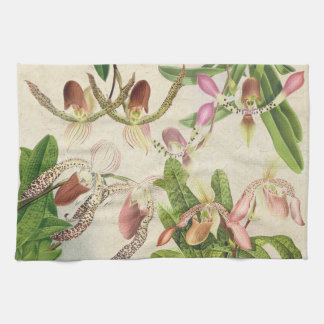Tropical Lady Slipper Orchid Floral Flowers Towels