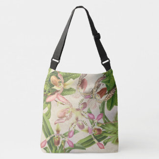 Tropical Ladys Slipper Orchid Flowers Floral Bag