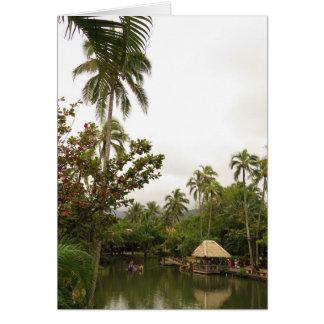 Tropical Lagoon Card