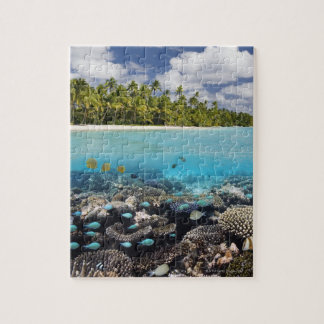 Tropical Lagoon in South Ari Atoll Jigsaw Puzzle