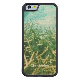 Tropical Lagoon Ocean Coral Reef Fish Handmade Maple iPhone 6 Bumper Case