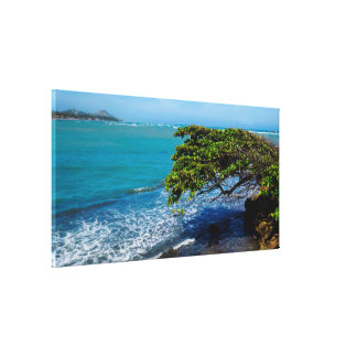Tropical Landscape | Atlantic Ocean Canvas Print
