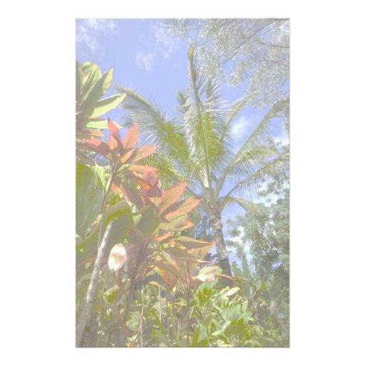 Tropical landscape flora stationary paper stationery