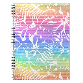 Tropical leaf chevron spiral notebook