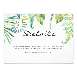 Tropical Leaf Details Card
