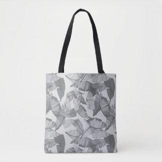 Tropical Leaf Grey Design Bag