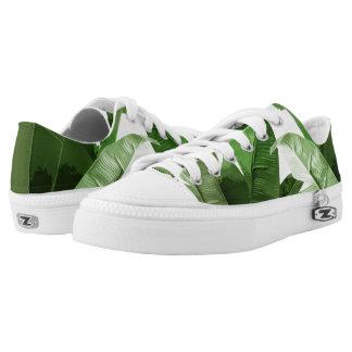 Tropical Leaf Low Top Sneakers