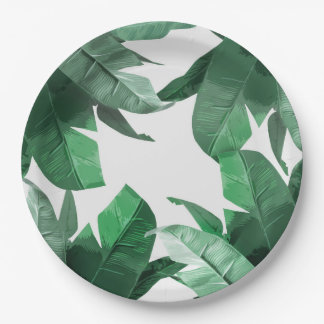 Tropical Leaf Paper Plate
