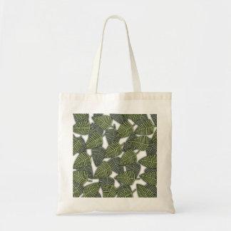 Tropical Leaf Pattern. Canvas Bag