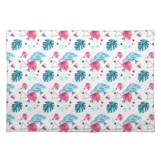 Tropical Leaf Triangle Pattern Placemat
