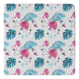 Tropical Leaf Triangle Pattern Trivet