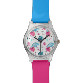 Tropical Leaf Triangle Pattern Watch