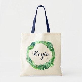 Tropical Leas Tote Bag. Personalized Tote Bag