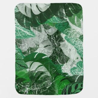 Tropical leaves Baby Blanket