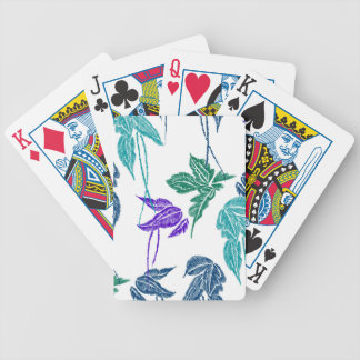 Tropical leaves bicycle playing cards