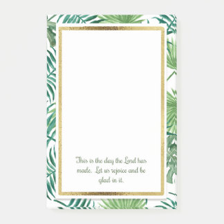 Tropical Leaves Christian Bible Verse Post It Post-it Notes