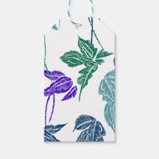 Tropical leaves gift tags