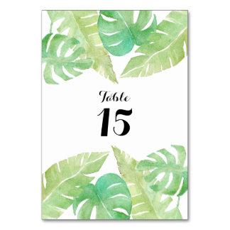Tropical Leaves in Watercolor Card