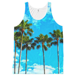 Tropical Leaves Palm tree Tank top All-Over Print Tank Top
