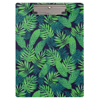 Tropical Leaves Pattern Clipboards