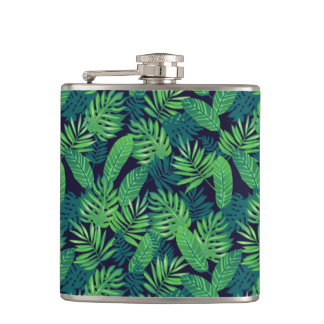 Tropical Leaves Pattern Flasks