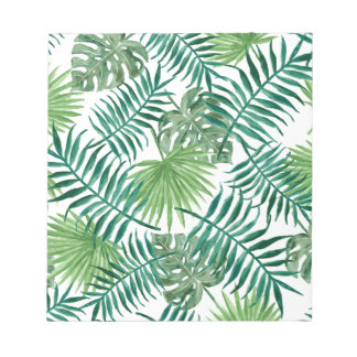 Tropical Leaves pattern Notepad