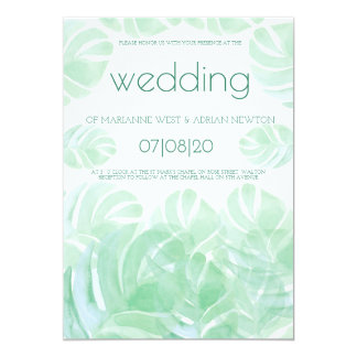 Tropical Leaves Summer Wedding Invitation