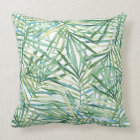 Tropical Leaves Watercolor Cushion