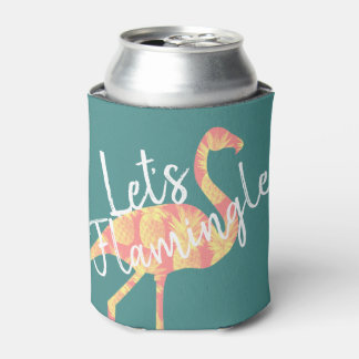 Tropical Let's Flamingle Flamingo & Pineapples Can Cooler