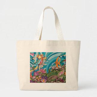 Tropical life large tote bag