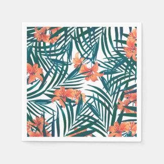 Tropical Lilies Paper Cocktail Napkins Paper Napkins