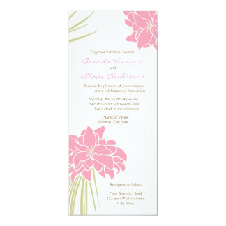 Tropical Lilies Wedding Invitation