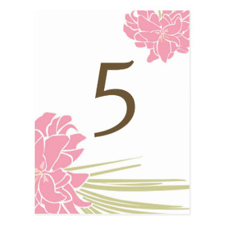 Tropical Lilies Wedding Table Number Card Postcard
