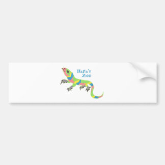Tropical Lizard Bumper Sticker