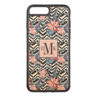 Tropical Lotus Flower Pattern Carved iPhone 8 Plus/7 Plus Case