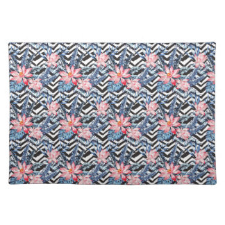 Tropical Lotus Flower Pattern Placemat