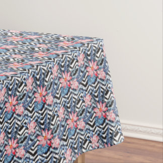 Tropical Lotus Flower Pattern Tablecloth