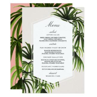 Tropical Love / Menu 11 Cm X 16 Cm Invitation Card