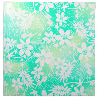 Tropical love napkin