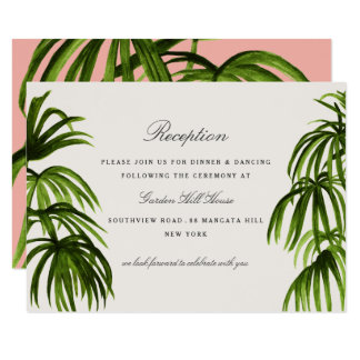 Tropical Love / Reception Card