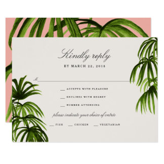 Tropical Love / RSVP Card