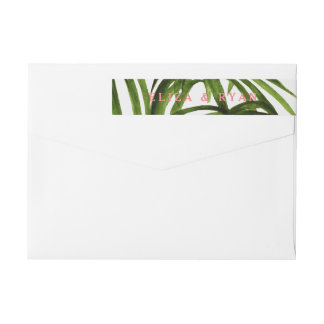 Tropical Love / Wrap Return Address Wraparound Return Address Label