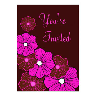 Tropical Luau Hawaiian Summer Party Invitations