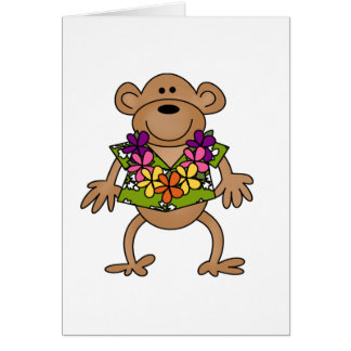 Tropical Luau Monkey Card
