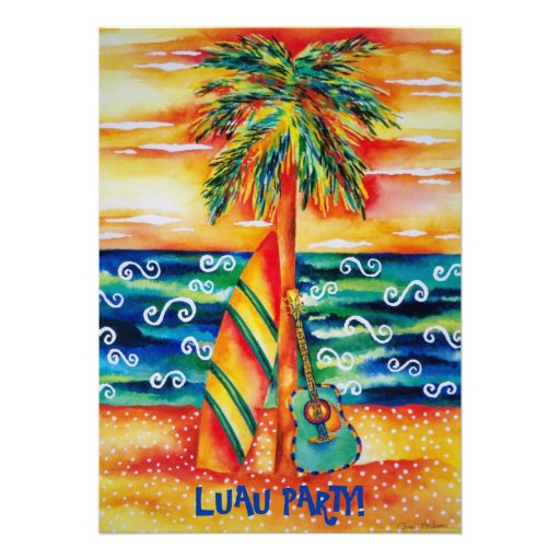 Tropical Luau Party Invitation